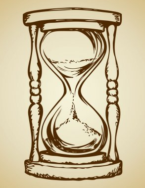 Hourglass. Vector drawing
