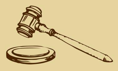 Sketch of hammer of judge