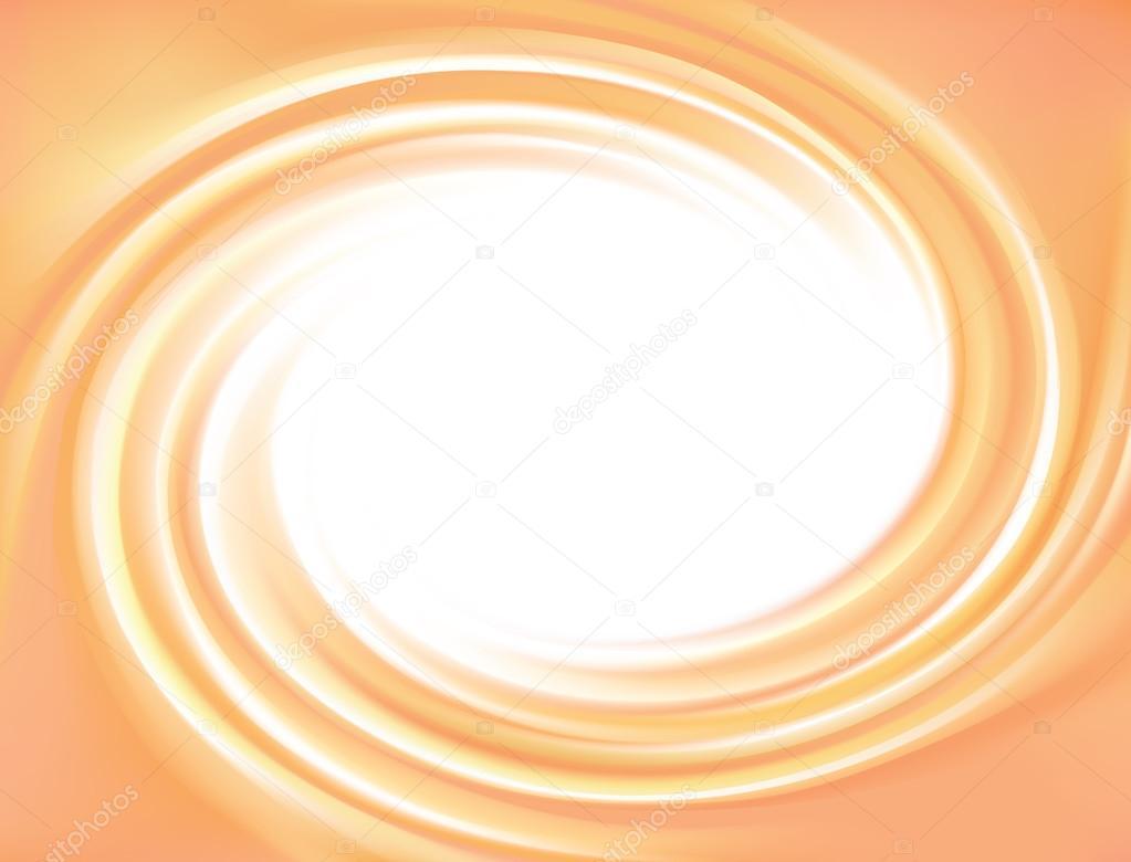 旋回テクスチャのベクトル ライト オレンジ色の背景 — ストックベクター