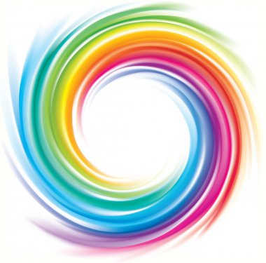 Vector backdrop of spiral rainbow spectrum