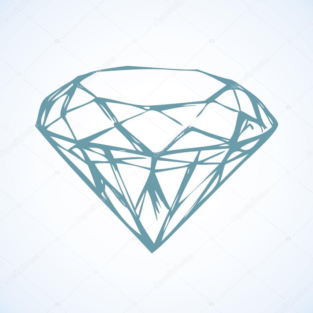 Diamond. Vector sketch — Stock Vector © Marinka #93323380