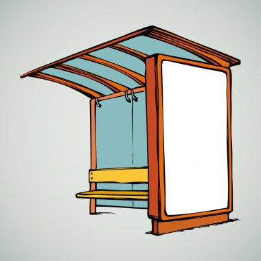 Bus stop. Vector drawing