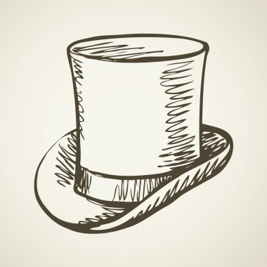 Cylinder hat. Vector drawing