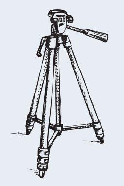 Tripod. Vector drawing