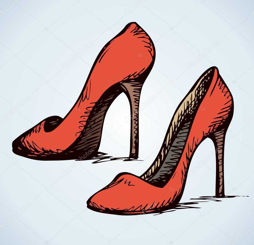 c47172f7d5a Women's shoes. Vector drawing — Stock Vector © Marinka #96974354
