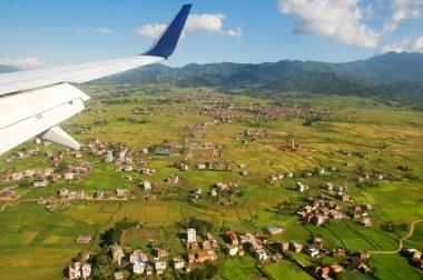 Suburbs of Kathmandu from the airplane, Nepal