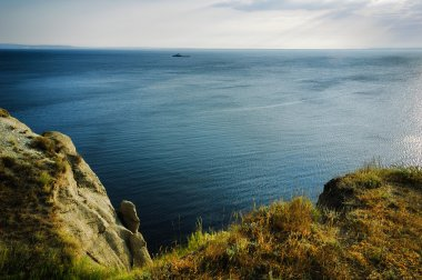 Cliff on the Volga River, Saratov Region, Russia