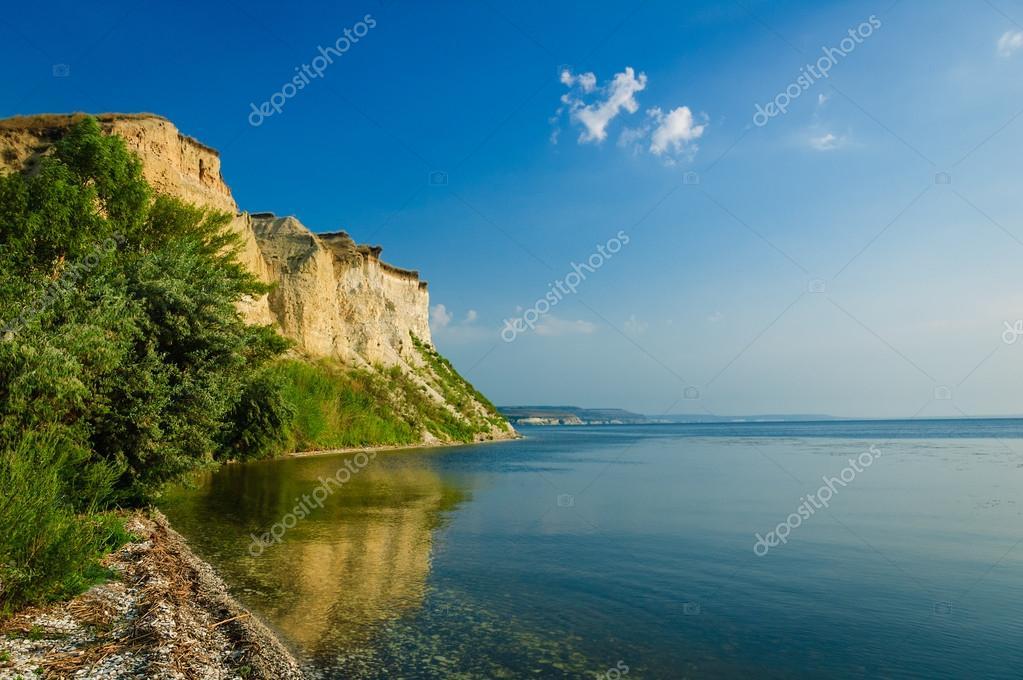 Cliff on the Volga River, Saratov Region, Russia