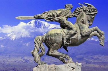 Monument to David of Sasun - hero of armenian epos