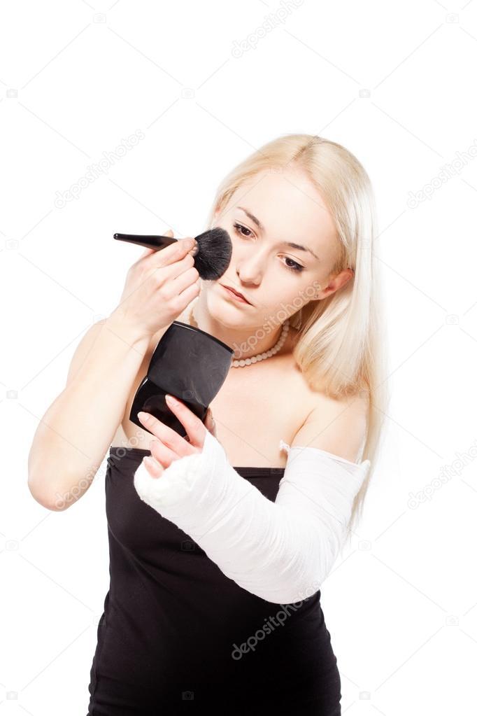 De brazo roto maquillaje