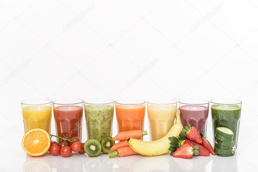 Healthy mixed fruit smoothie