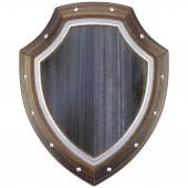 Középkori fából készült pajzs.