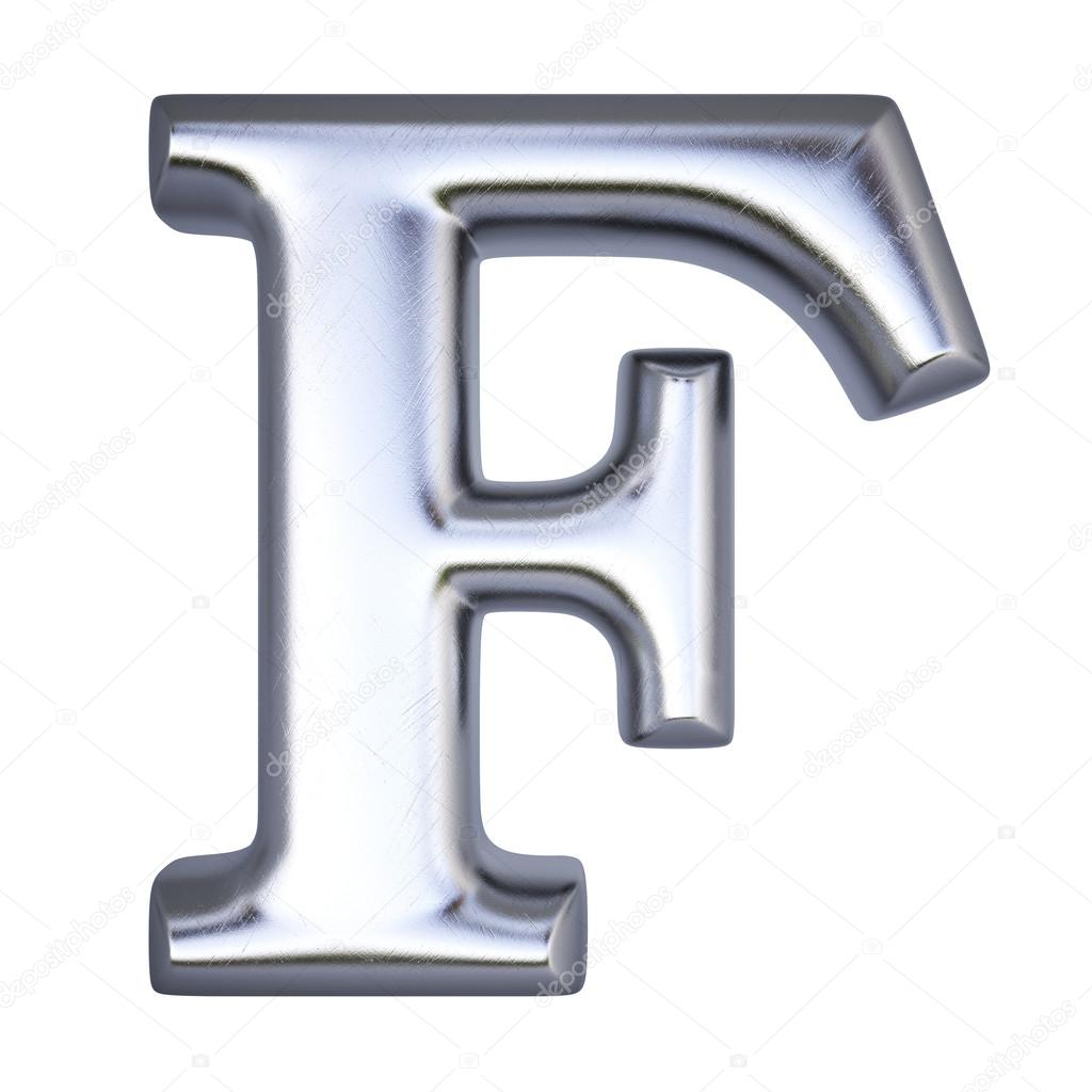 Alphabet Letter F From Silver Isolated On White Photo By Dimdimich