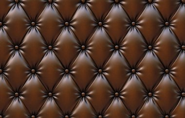 Chocolate-colored leather upholstery.
