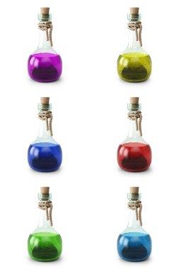 Potion in six bottles
