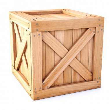 Close-up of wooden box