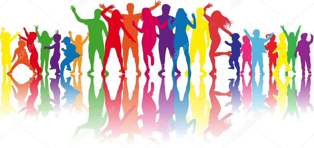 Dancing Silhouettes Stock Vector
