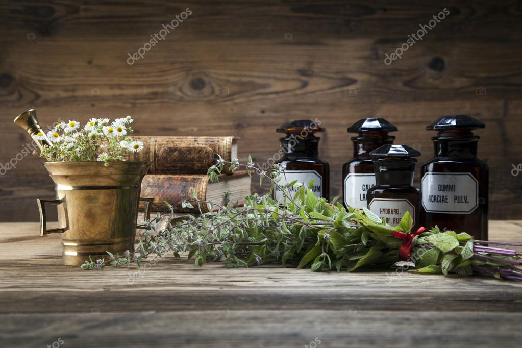 The ancient natural medicine, herbs and medicines