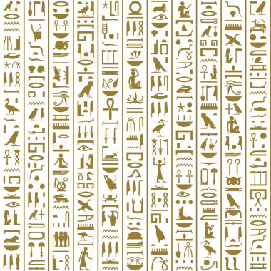 Ancient Egyptian Hieroglyphs Seamless