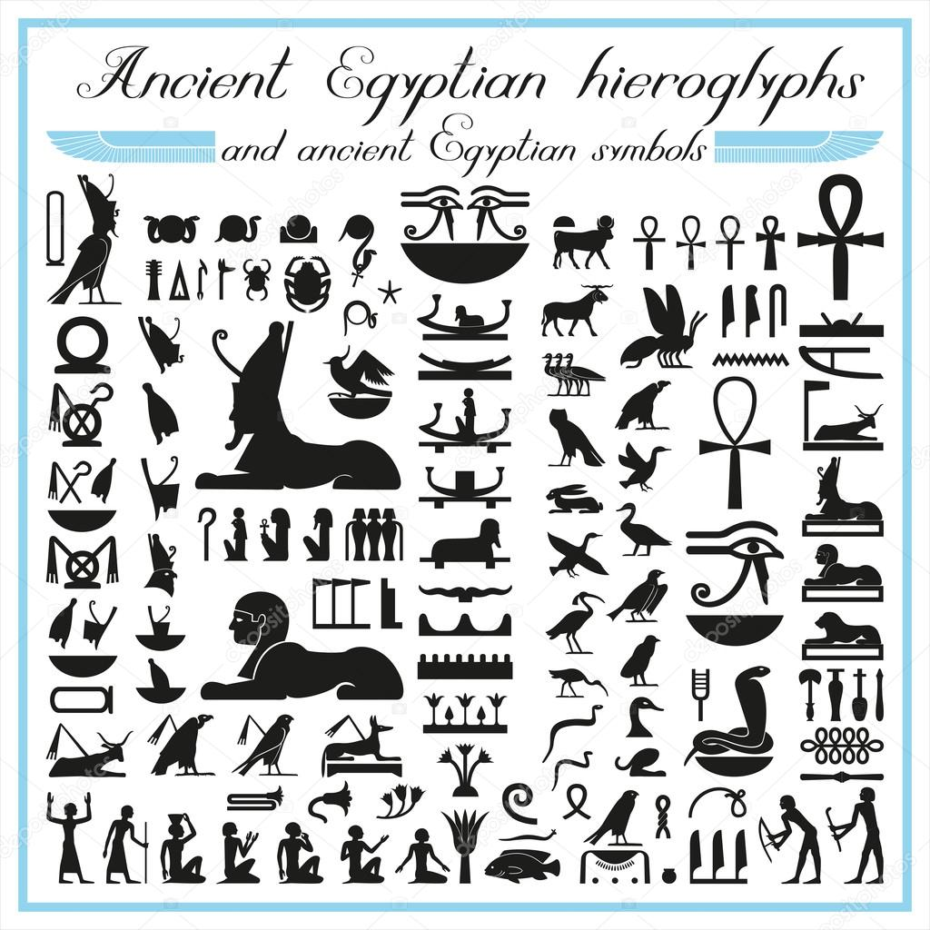 Ancient egyptian hieroglyphs and symbols stock vector artyup ancient egyptian hieroglyphs and ancient egyptian symbols vector by artyup biocorpaavc