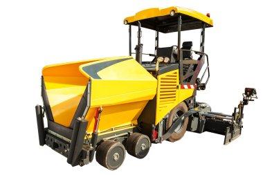 Construction machinery Wheeled Paver isolated