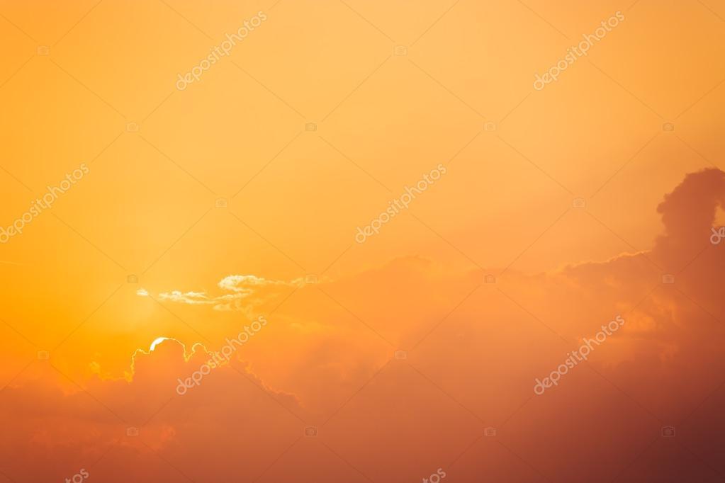 Sunrise dramatic sky clouds