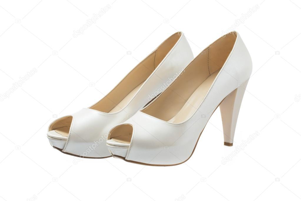 zapatos de boda mujer aislados sobre fondo blanco — fotos de stock