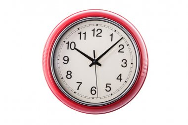 Wall clock isolated on the white background