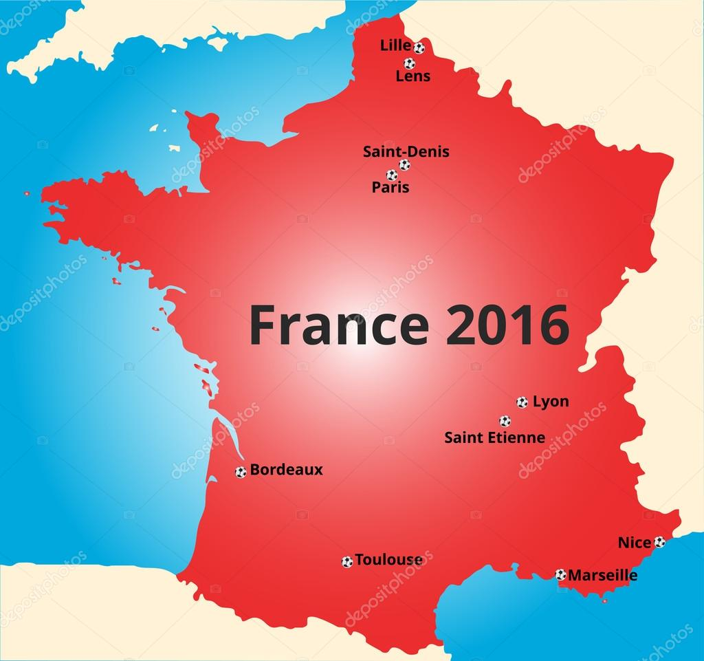 Cities of France euro 2016
