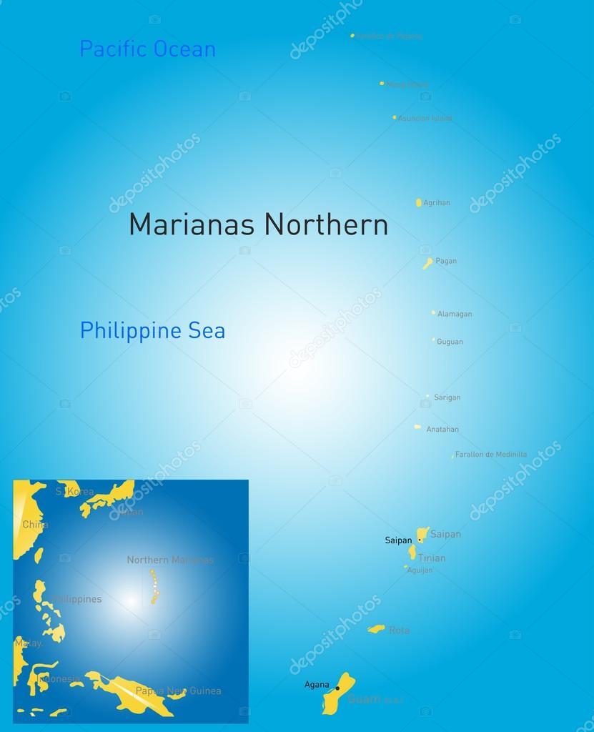 northern mariana islands map — Stock Vector © olinchuk #52981605