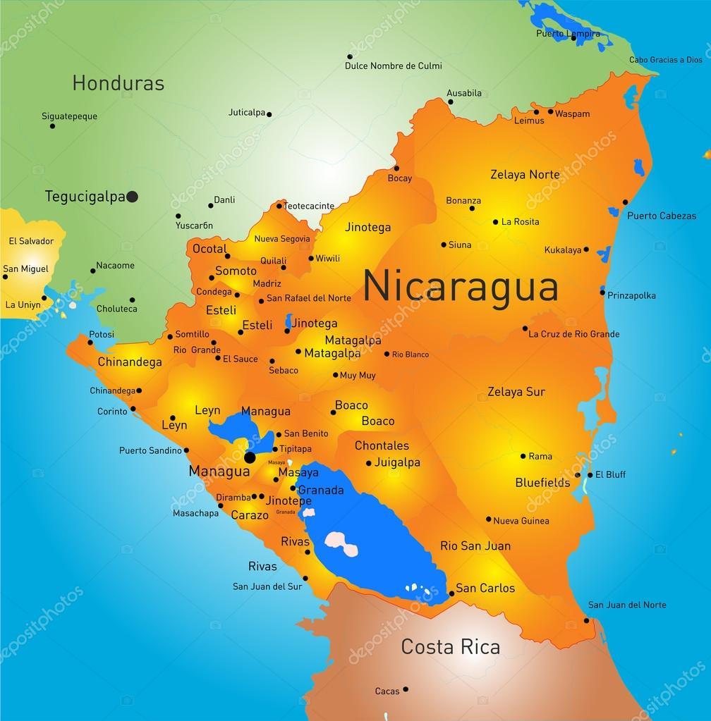 Nicaragua Stock Vector Olinchuk - Nicaragua map download