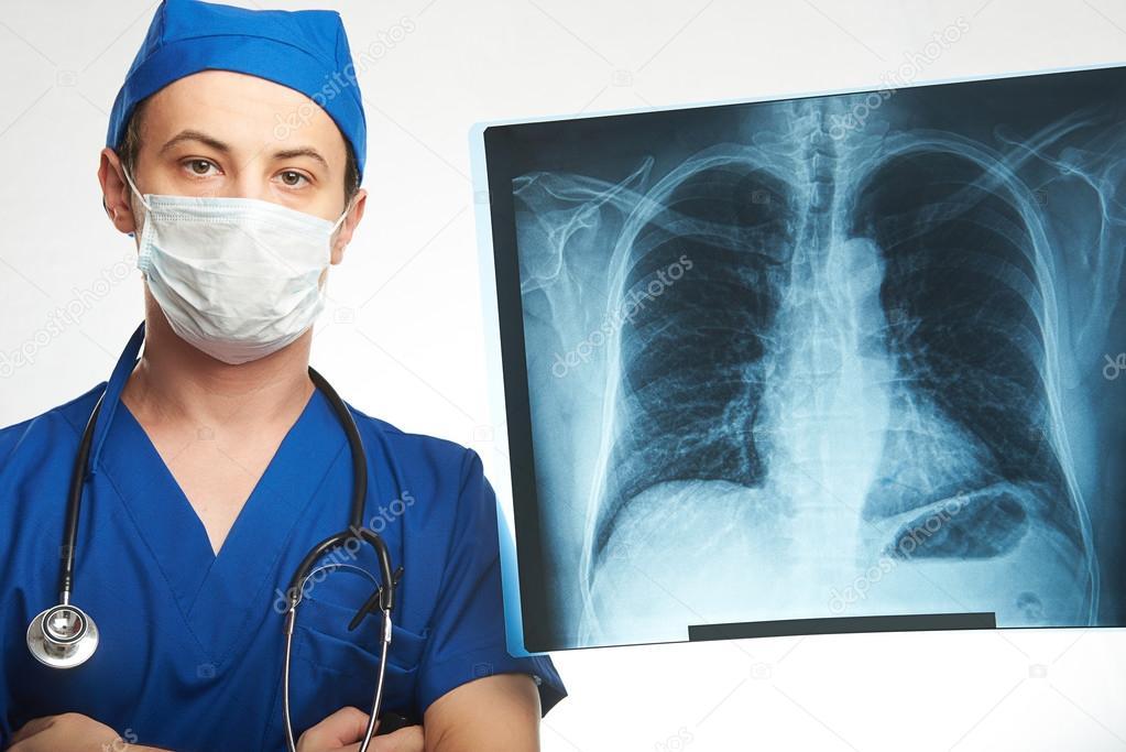Retrato de médico radiólogo — Foto de stock © dimarik #123032568
