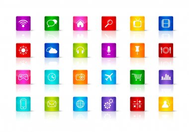Desktop Icons collection. Isolated on a white background stock vector