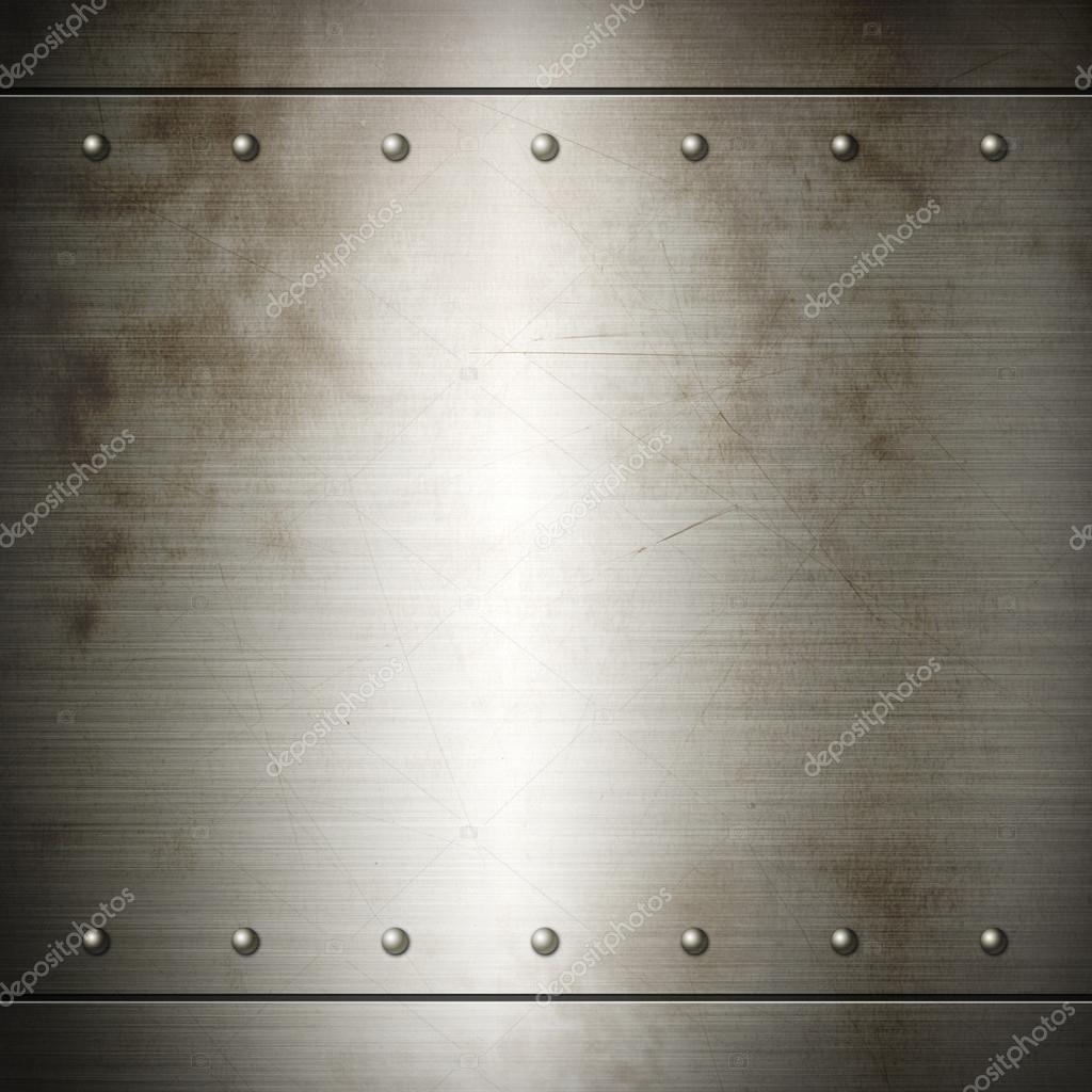 Viejo acero remachada placa cepillado textura — Foto de stock ...