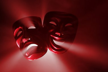 Theatrical masks in haze