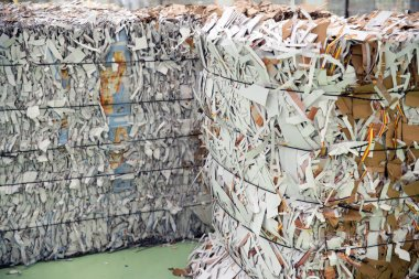 Paper and cardboard for recycling