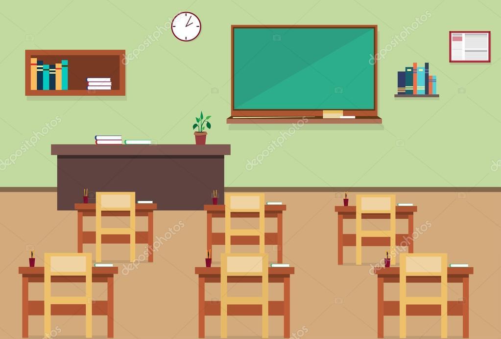Empty School Class Room Interior