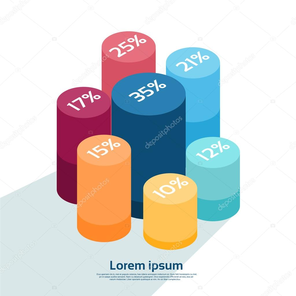 Cylinder chart diagram with percentage financial graph 3d isometric cylinder chart diagram with percentage financial graph 3d isometric design vetores de stock ccuart Images