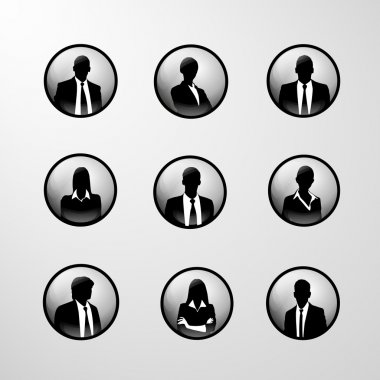 Profile icons business set