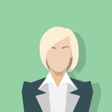 Businesswoman profile icon