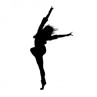 Silhouette of dancing girl