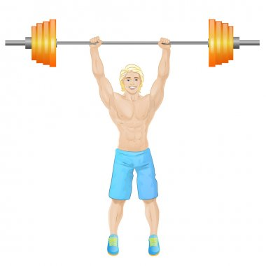 Sport man hold barbell