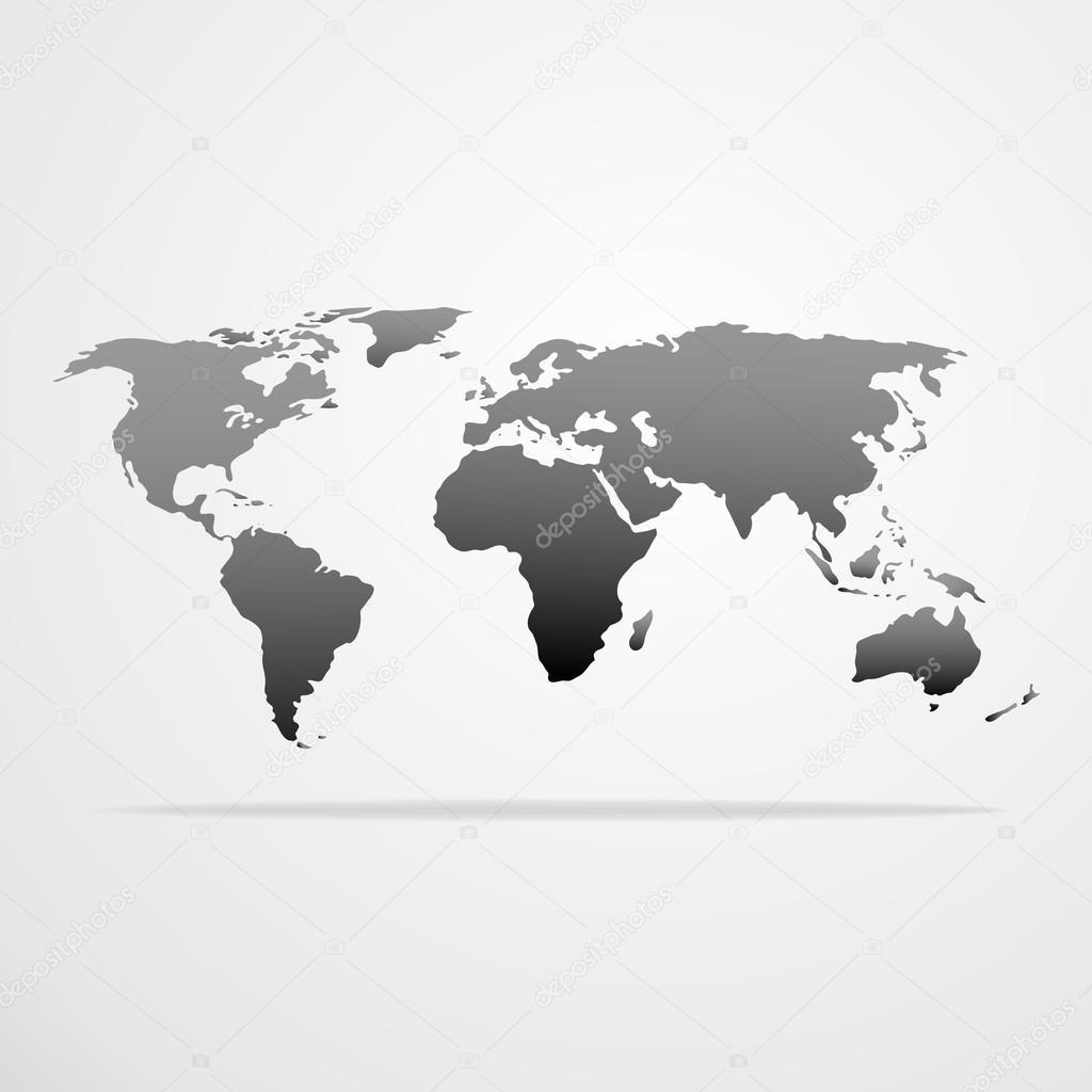Icono de mapa de mundo archivo imgenes vectoriales mast3r 59094777 world map icon gray silhouette vector illustration vector de mast3r gumiabroncs Image collections