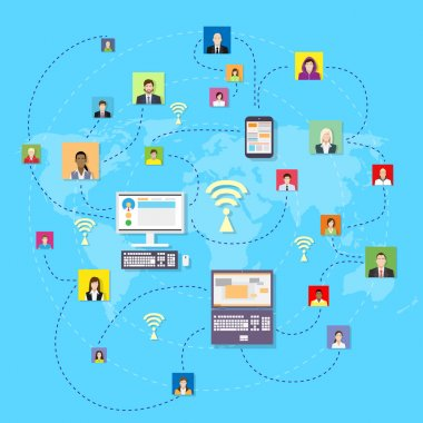 Business people global communication