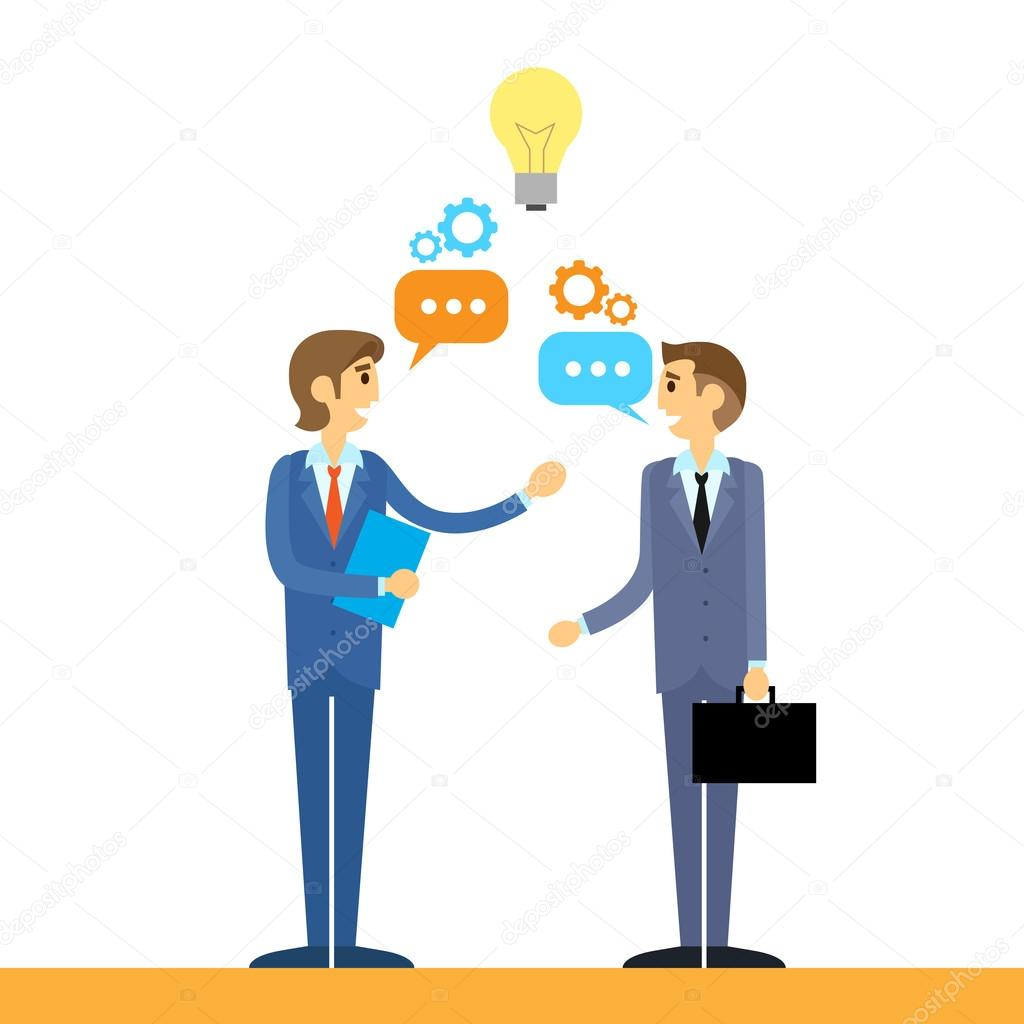Business people talking discussing idea