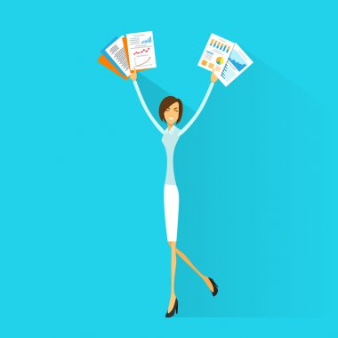 Excited Business woman