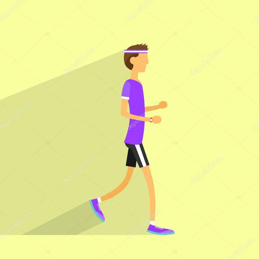 Hombre de jogging con rastreador de fitness — Archivo Imágenes ...
