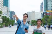Two tourists  men