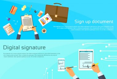 Contract Sign Up and  Businessman