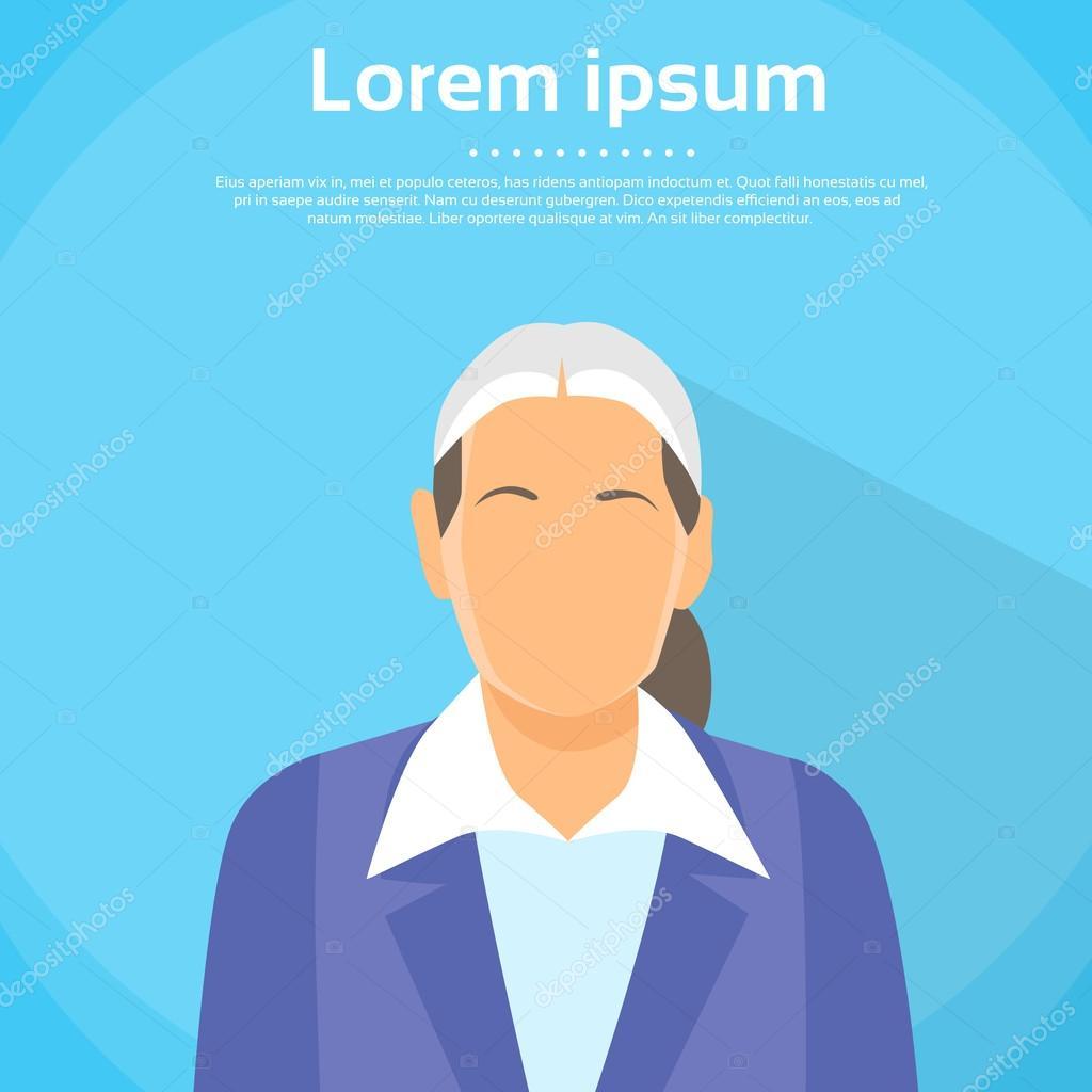 Senior Woman Profile Icon